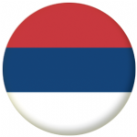 Serbia Civil Flag 58mm Button Badge